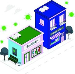 Closed Shops During Corona Virus Quarantine