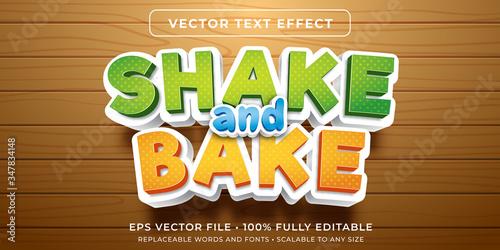 Fototapeta Editable text effect - baking cartoon style obraz