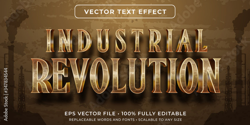 Obraz Editable text effect - industrial revolution vintage style - fototapety do salonu