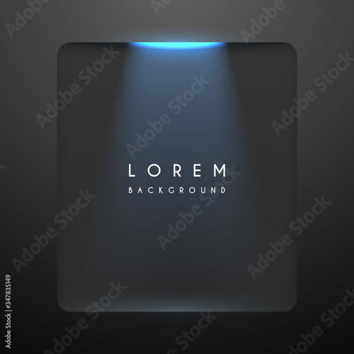 Simple black background with blue backlight Canvas Print