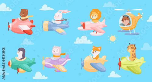 Photo Cartoon airplanes