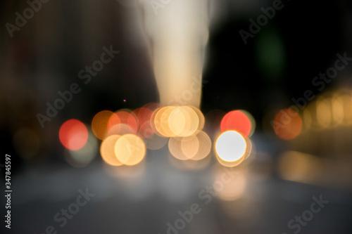 Cuadros en Lienzo New York Stadt unscharfe Straßenlichter