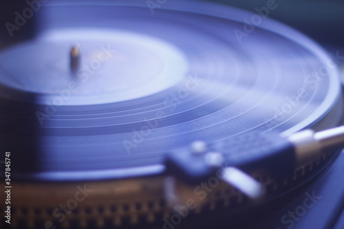 old vinyl record with clipping path Canvas Print