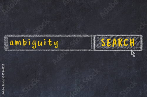 Chalk sketch of browser window with seqrch form and inscription ambiguity Wallpaper Mural