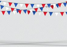 Bunting Hanging Banner Red Whi...