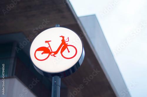 Photo Bicing Barcelona bike transport logo