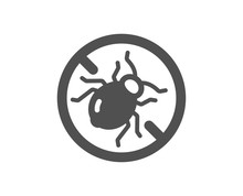 Mattress Bed Bugs Icon. Hypoal...