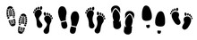 Different Human Footprints Icon. Vector Illustration