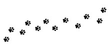 Dog And Cat Paw Print Vector I...