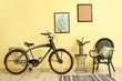 Leinwanddruck Bild Interior of modern room with bicycle