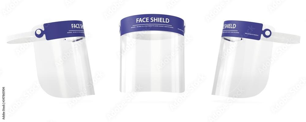Fototapeta Face shield 3D medical visualization, Surgical equipment
