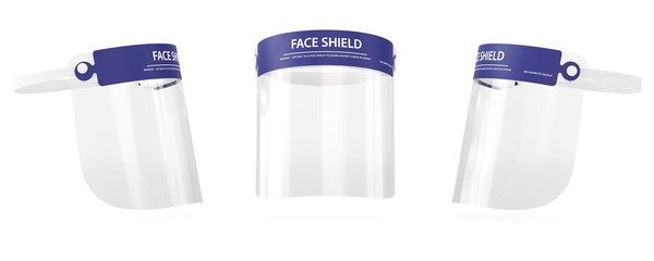 Face shield 3D medical visualization, Surgical equipment