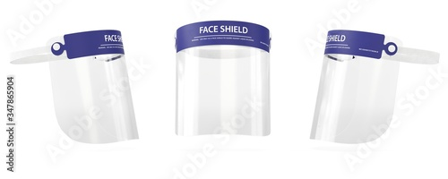 Fototapeta Face shield 3D medical visualization, Surgical equipment obraz