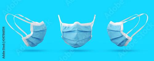 Fototapeta Medical mask, 3D medical Visualization, Surgical equipment obraz