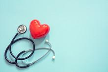 Heart And Stethoscope Backgrou...