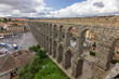 View of the aqueduct of Segovia (Spain)