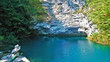 Unique Blue Lake In Abkhazia. ...