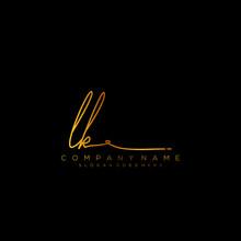 Letter LK Signature Logo Templ...
