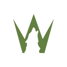 The Letter W Wolf Logo