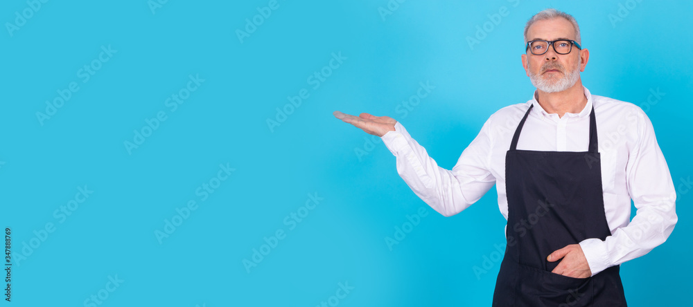 Fototapeta grocer isolated on color background