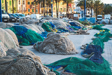 Fishing Nets In Port Blue And ...