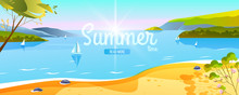 Summer Tropical Landscape With...