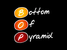 BOP - Bottom Of The Pyramid Acronym, Business Concept Background