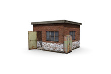 Old Booth Render On A White Ba...