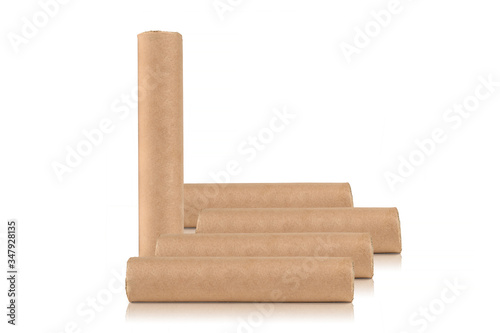 Fotografía Moxa roll, moxibustion for acupuncture needles on white background