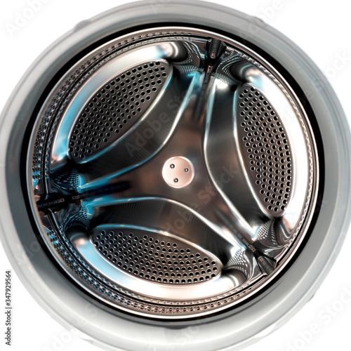 Obraz na płótnie Inside view into washing machine drum