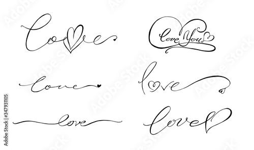 Photo lettering love