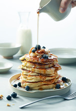 Stack Of Blueberry Banana Waln...
