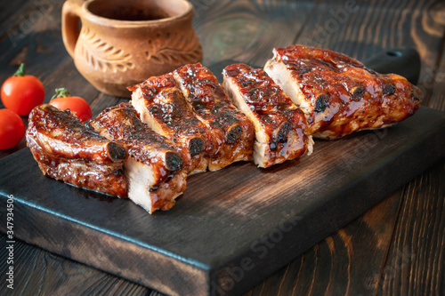 Fototapeta Grilled pork ribs