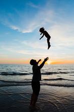 Dad Throws His Toddler Daughte...