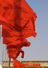 Red Flags On Tiananmen Square ...