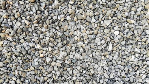 Obraz na plátně texture of gravel stones on ground background