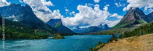 Vászonkép 0000287_Amazing panoramic view of Lake St