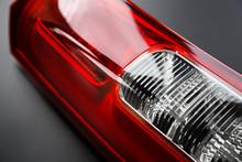 Car Headlight, Close-up. Red