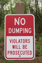 No Dumping Violators Will Be P...