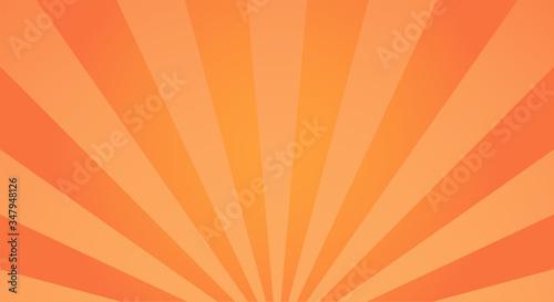 Fotografia, Obraz Sunburst light background with sun orange ray.