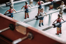 Table Football Game With Players