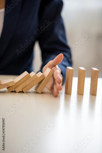 Fotografie, Obraz Conceptual image of business depression prevention