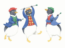 Trio Of Dancing Penguins