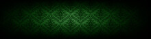 Baroque Green Wallpaper Background