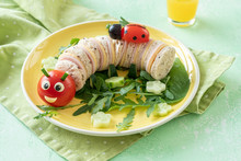 Funny Caterpillar Sanwich With...