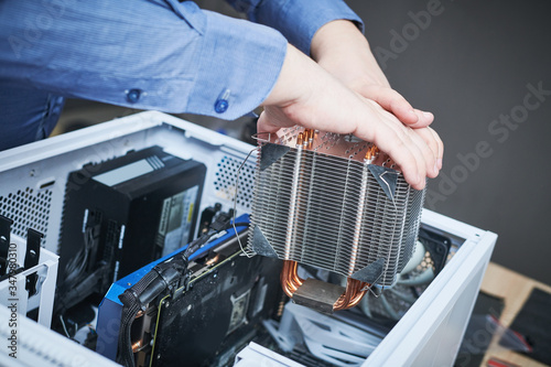 Computer maintenance and warranty repair service. Upgrade desktop components