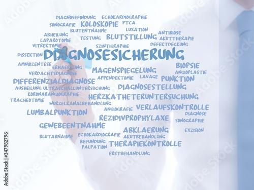 Obraz na plátně Diagnosesicherung