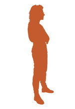 Silhouette Of Young Female Fre...