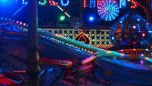 Illuminated Amusement Park Ride
