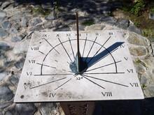 High Angle View Of Sundial